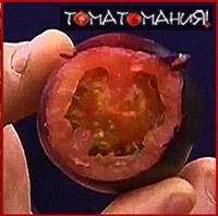 Черные помидоры внутри красные