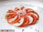 Карпачо из дайкона и томатов
