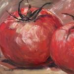 Красные помидоры. Картина