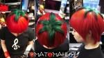 Прическа спелый помидор