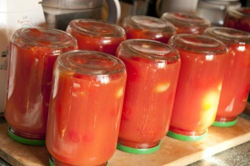 Рецепт помидоров в собственном соку на зиму